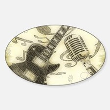 Vintage Guitar  Decal