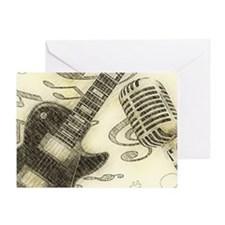 Vintage Guitar  Greeting Card