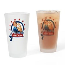 Rosie Proud Army Wife Drinking Glass