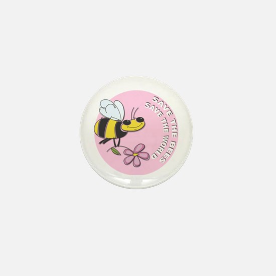 Save The Bees Mini Button