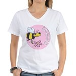 Save The Bees Women's V-Neck T-Shirt