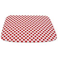 Red Polka Dots Bathmat