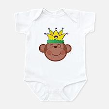Mardi Gras Monkey Infant Bodysuit