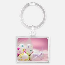 Happy Easter Landscape Keychain