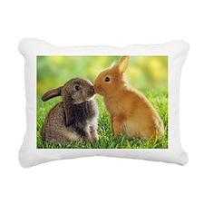 rabbits Rectangular Canvas Pillow
