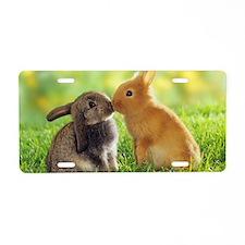 rabbits Aluminum License Plate