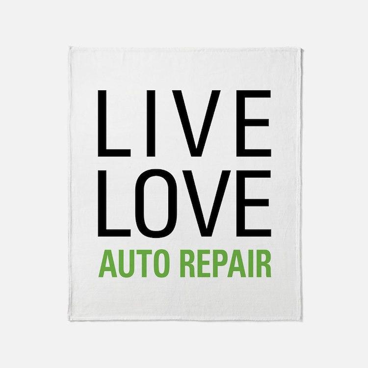 Live Love Auto Repair Throw Blanket