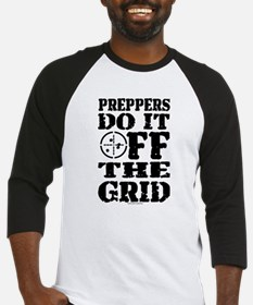 Preppers Do It Off The Grid Baseball Jersey