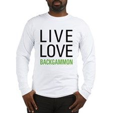 Live Love Backgammon Long Sleeve T-Shirt