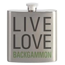 Live Love Backgammon Flask