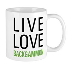 Live Love Backgammon Mug
