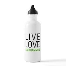 Live Love Backgammon Water Bottle