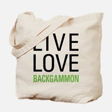 Live Love Backgammon Tote Bag