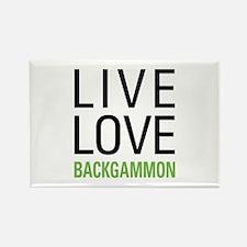 Live Love Backgammon Rectangle Magnet