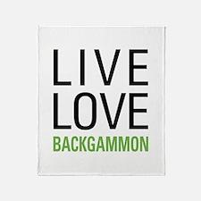 Live Love Backgammon Throw Blanket