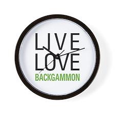 Live Love Backgammon Wall Clock