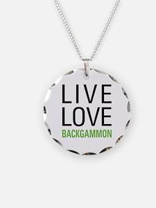 Live Love Backgammon Necklace
