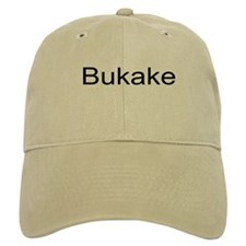 Bukake Baseball Cap With Gentuim Script Baseball Cap