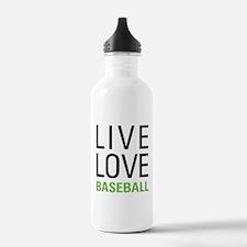 Live Love Baseball Water Bottle