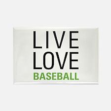 Live Love Baseball Rectangle Magnet