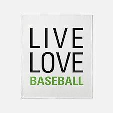 Live Love Baseball Throw Blanket
