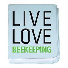 Live Love Beekeeping baby blanket