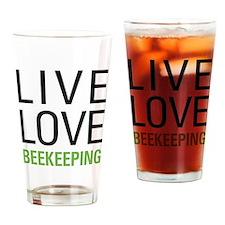Live Love Beekeeping Drinking Glass