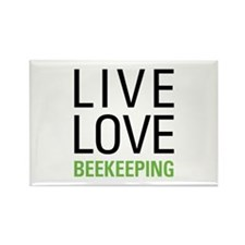 Live Love Beekeeping Rectangle Magnet