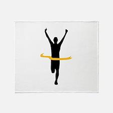 Running winner Throw Blanket