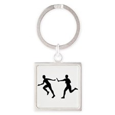 Relay race Square Keychain
