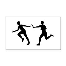 Relay race Rectangle Car Magnet