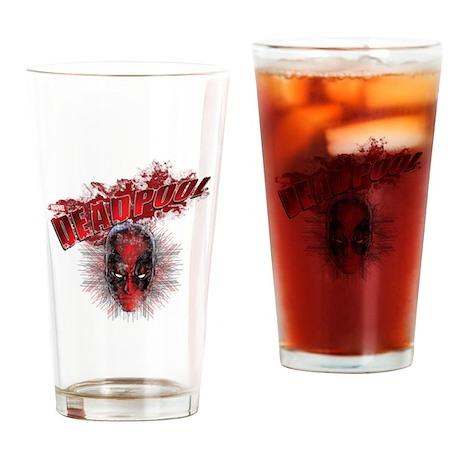 Deadpool Face Drinking Glass