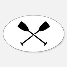 Crossed Paddles Sticker (Oval)