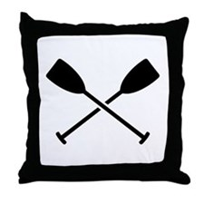 Crossed Paddles Throw Pillow