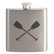 Crossed Paddles Flask