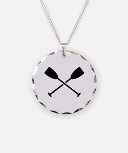 Crossed Paddles Necklace