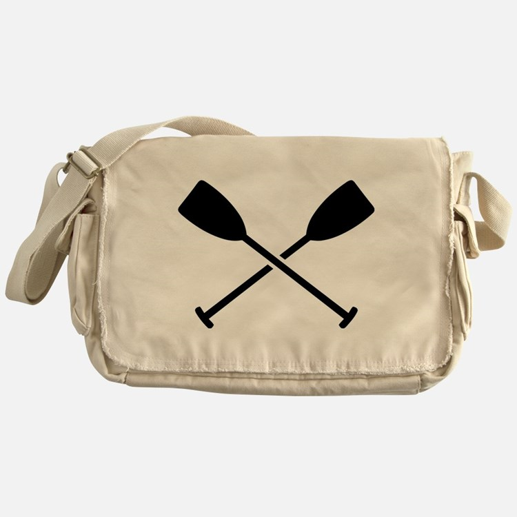 Crossed Paddles Messenger Bag
