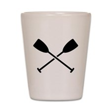 Crossed Paddles Shot Glass