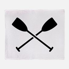 Crossed Paddles Throw Blanket