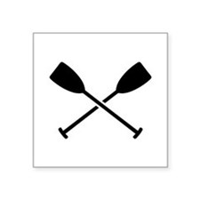 "Crossed Paddles Square Sticker 3"" x 3"""