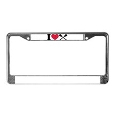 I love Paddling License Plate Frame