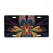 ESplits Butterfly Aluminum License Plate