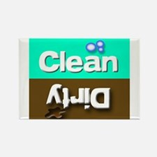 Clean/Dirty Teal/Brown Dishwasher Dishes Magnets
