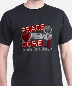 Sickle Cell Anemia PeaceLoveC T-Shirt