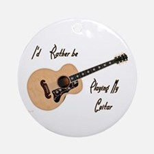 Playing My Guitar Ornament (round)