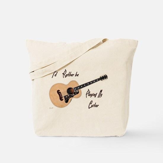 Playing My Guitar Tote Bag