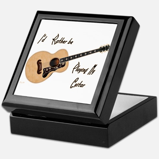 Playing My Guitar Keepsake Box