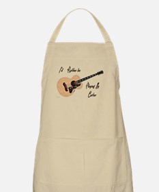 Playing My Guitar Apron