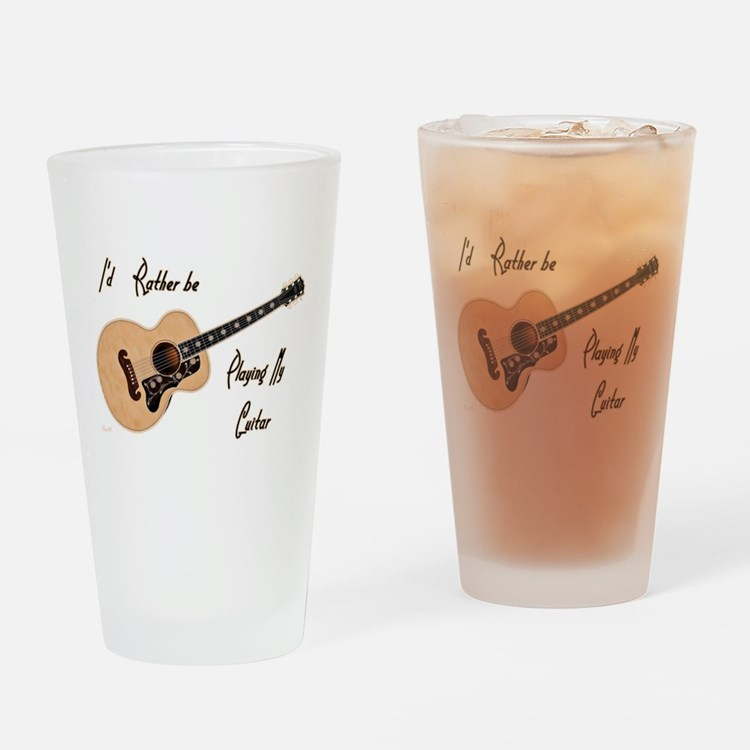 Playing My Guitar Drinking Glass