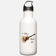 Playing My Guitar Water Bottle